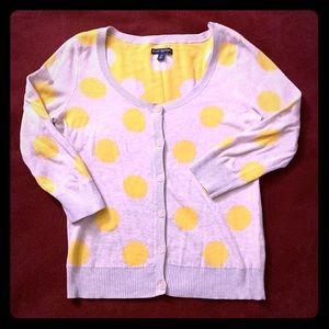 AE Yellow Polka Dot Cardigan